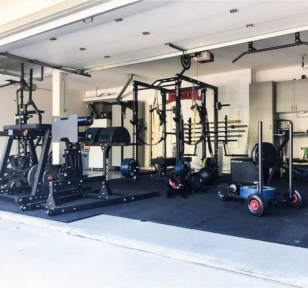 Top 75 besten Garage Gym Ideen – Home Fitness Center Designs - #besten #Center #Designs #Fitness #ga...