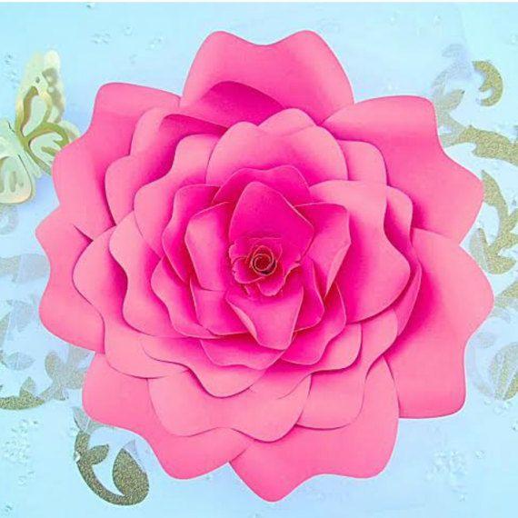 Paper Flower Templates Svg Cut Files Giant