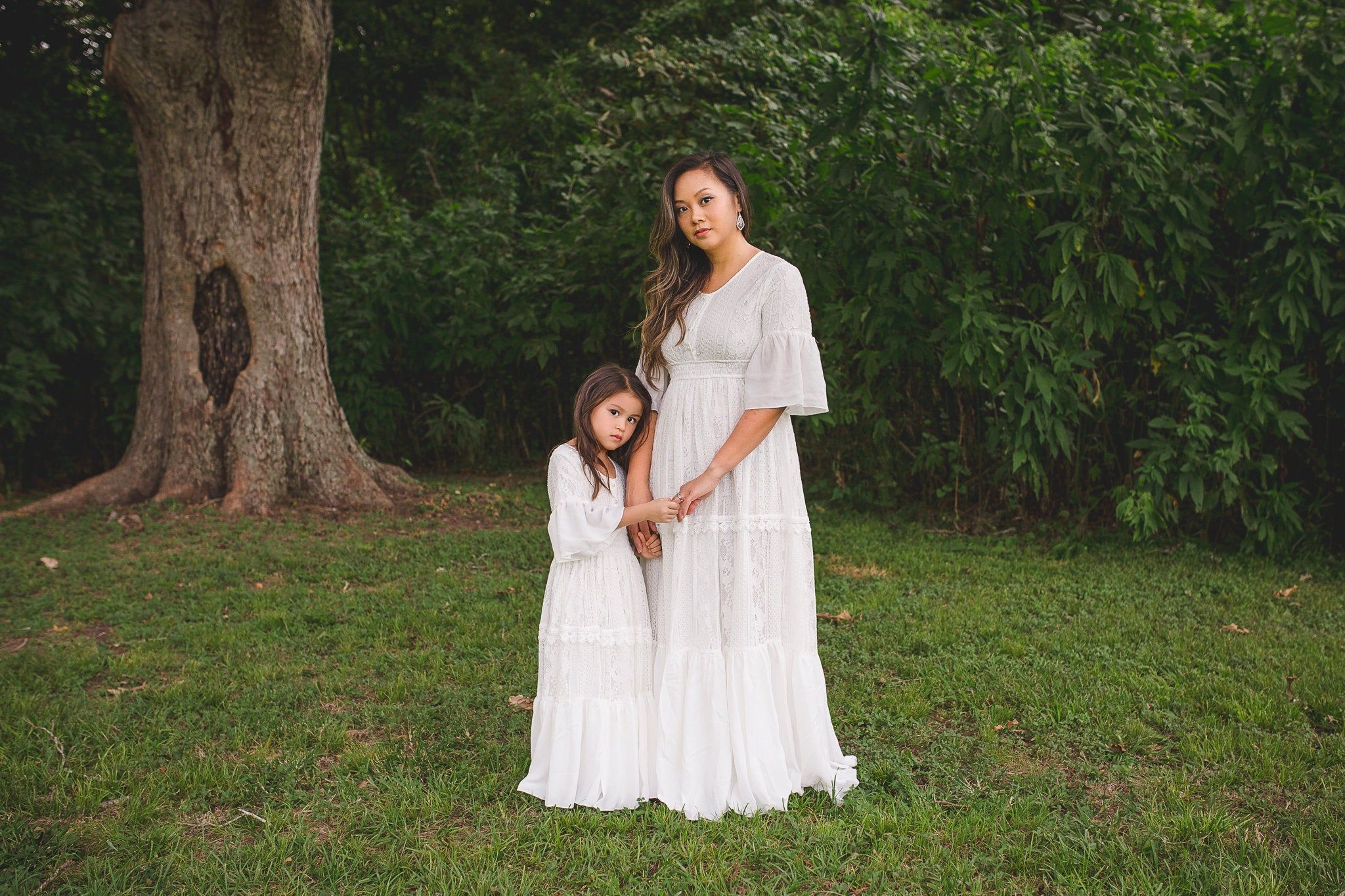 Bohemian mother daughter matching dresses outfits boho