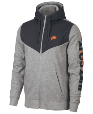 nike fleece zip up hoodie mens