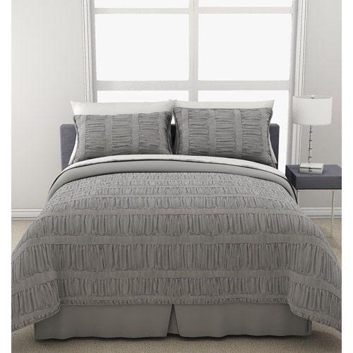 Formula Solid Ruched Bedding Comforter Set: Bedding : Walmart.com