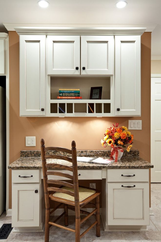 Kitchendeskcabinetkitchentraditionalwithceilinglighting New Kitchen Desk Design Inspiration