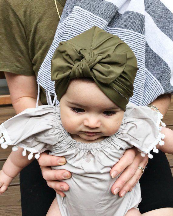 bd9ee403 SWIM Olive Green : baby swim hat, baby swim turban, baby sun hat, newborn  sun hat, infant swim hat,