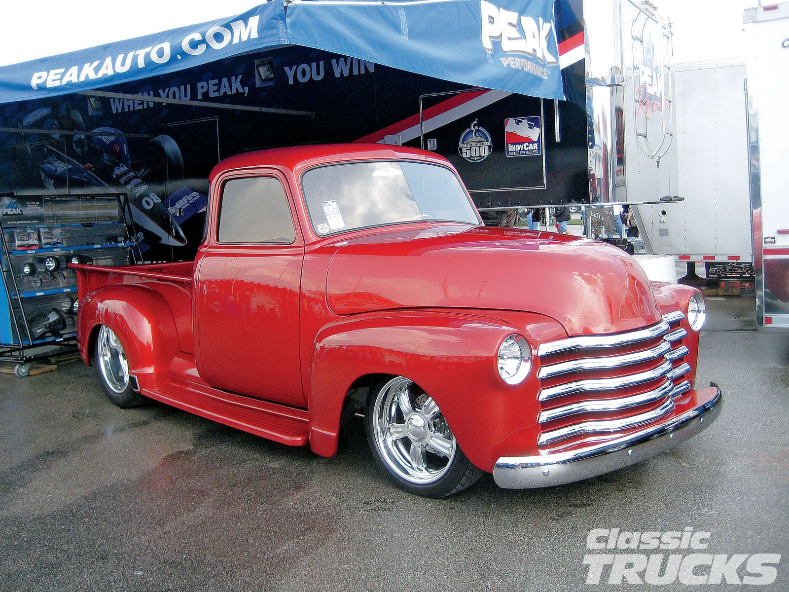 1953 Chevy Truck Either In This Red Or A Dark Blue Color 3 Love