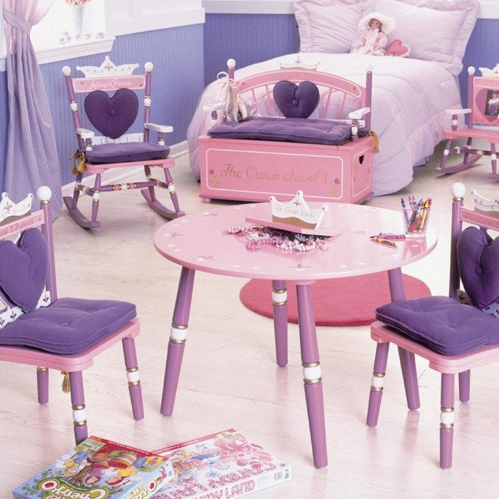 Wildkin Kids Princess 3 Piece Table And Chair Set Minimalist Kids Room Children Room Girl Kid Room Decor
