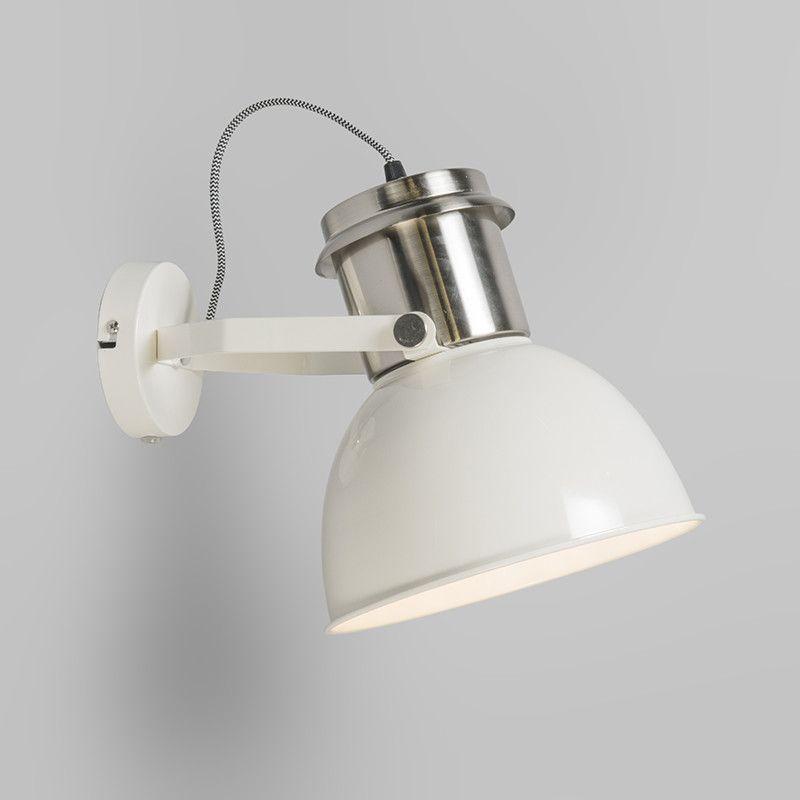 Aplique Industrial Blanco Apliques De Luz Luces Para Banos Iluminacion De Pared