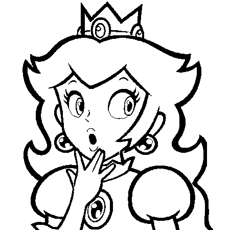 Coloriage Princesse De Mario.Dessin Princesse Peach A Colorier Coloring Coloriage