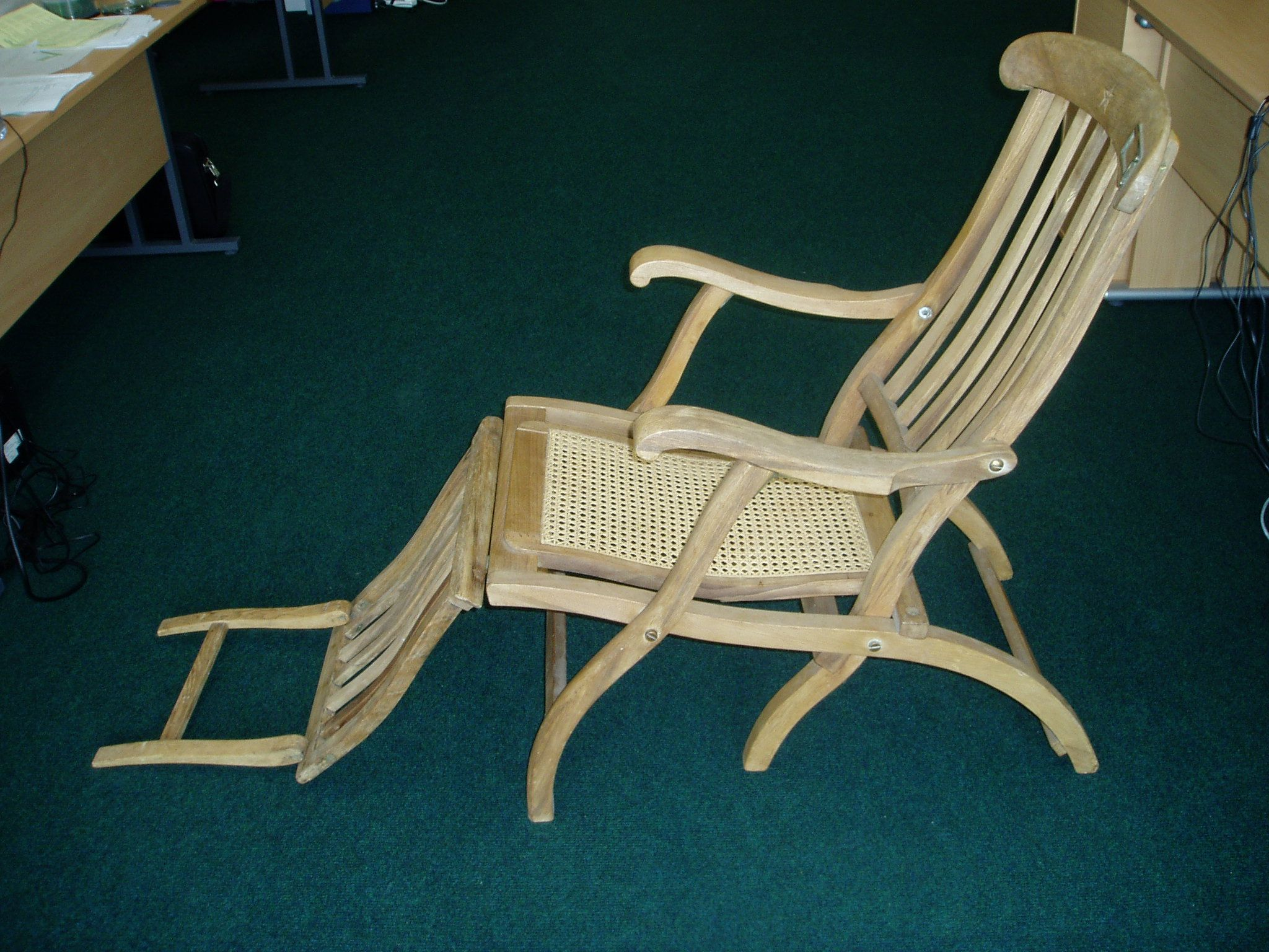 White Star Line Deckchair House Clearance White Outdoor Chairs - Garden Furniture Clearance Southampton