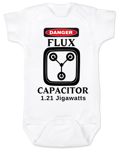 c379b233 Back to the Future - Flux Capacitor Baby Onesie or Toddler T-shirt. It's  the perfect Baby Shower gift for Badass parents.