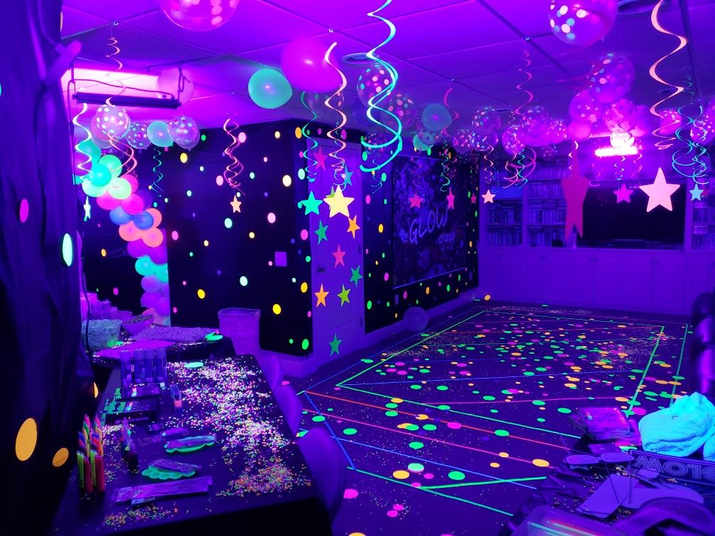 Neon Glow In The Dark Party Neon Birthday Party Glow In Dark