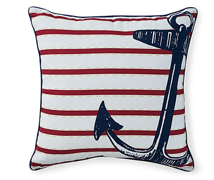 I Found A Anchor Outdoor Throw Pillow, (17