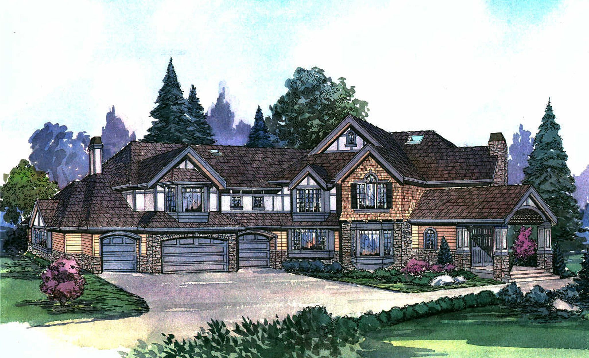Plan 2309JD Luxury Craftsman House Plan