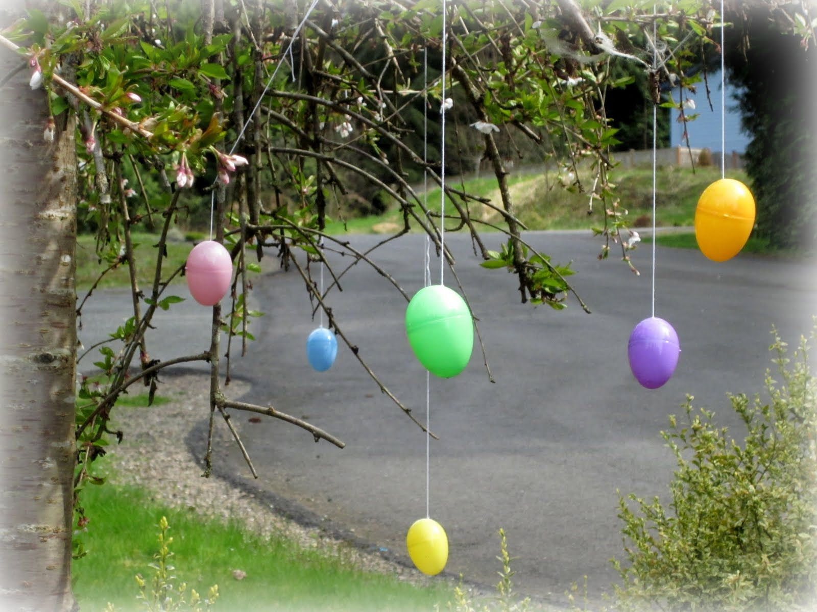 Outdoor Easter Decor | Easter, Easter decor and Plastic easter eggs
