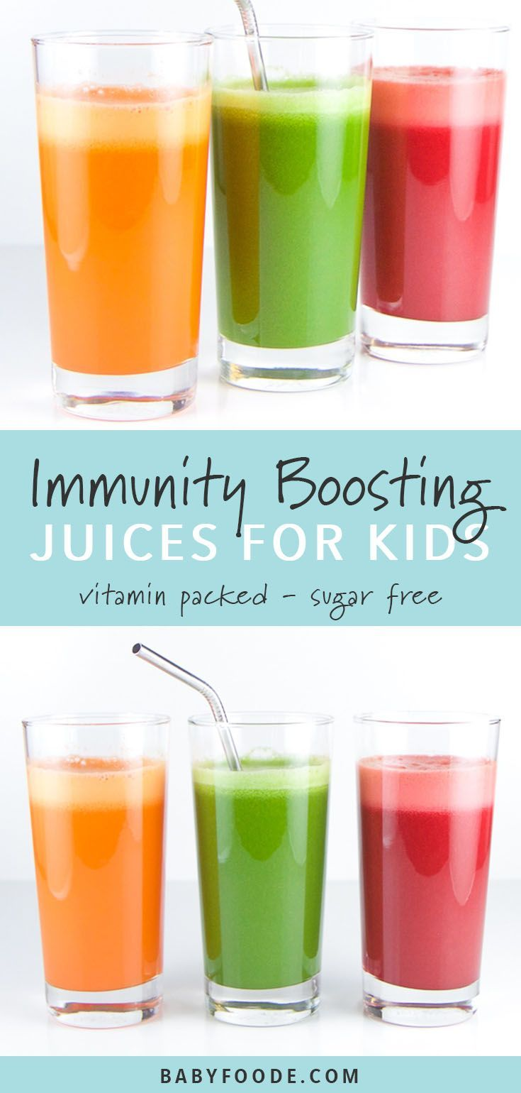 These three immunity boosting juice recipes are fully loaded with nutrients to help boost your kiddos immunity. Healthy, easy and totally tasty, your kids and toddlers will love these vegetable juice combinations! #juicing #kidfriendly #loseweight #weightloss #diet #weightlosstransformation #dietplan #ketodiet #ketorecipes #healthyjuicerecipes