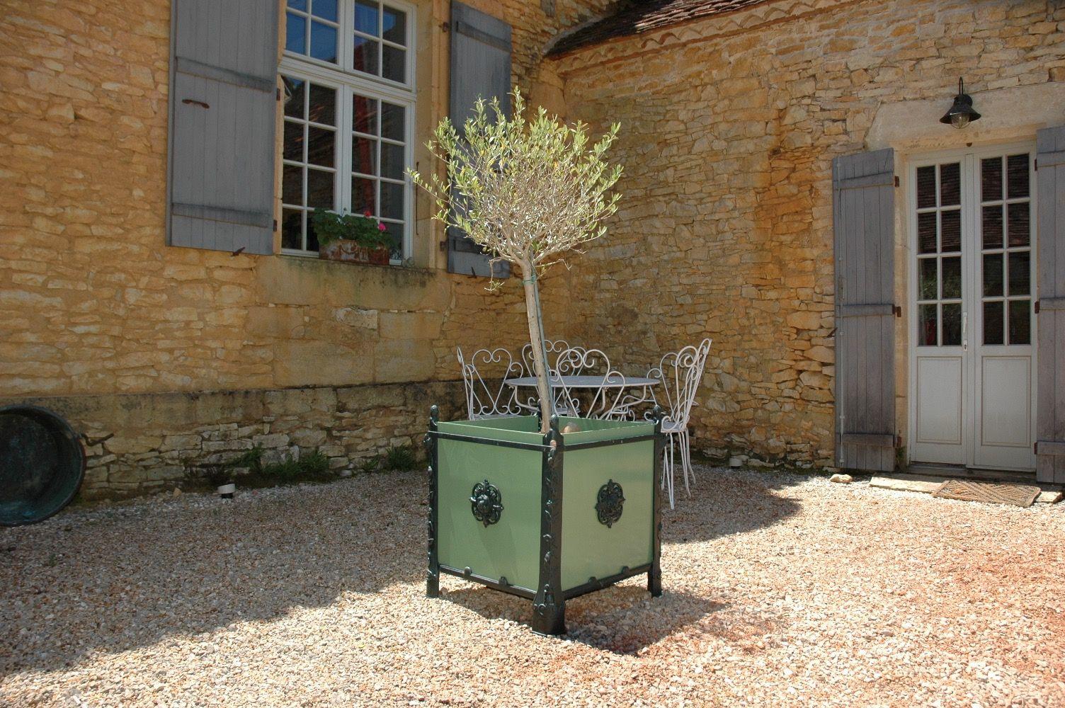 Bac Pour Arbuste De Jardin bac a oranger - panneaux tole - bac à plantes - jardinière