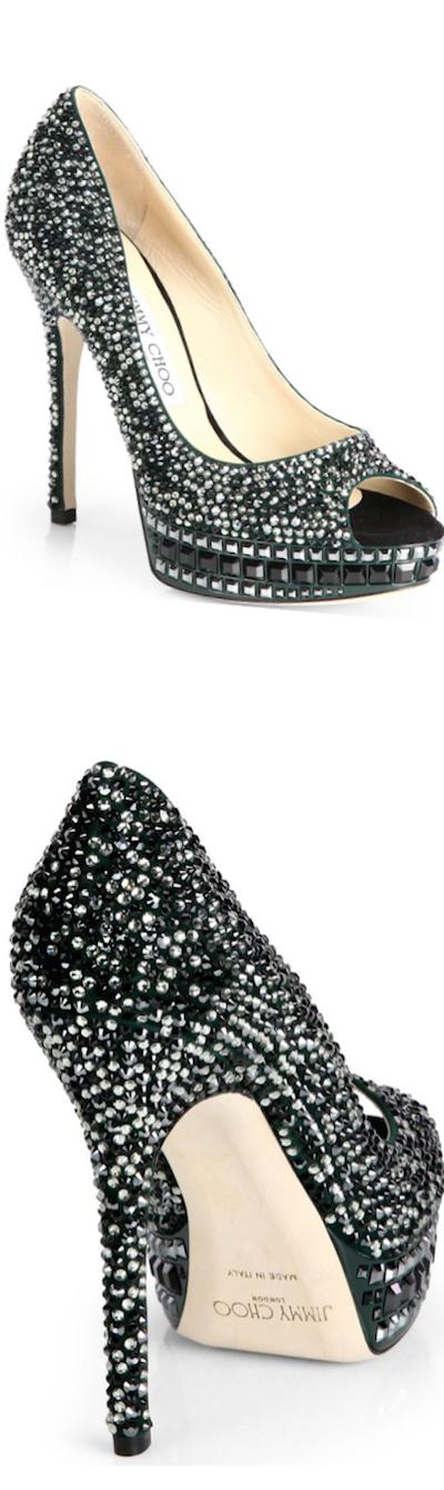96f9e35e5543 Jimmy Choo Klara Crystal-Covered Peep Toe  Pumps