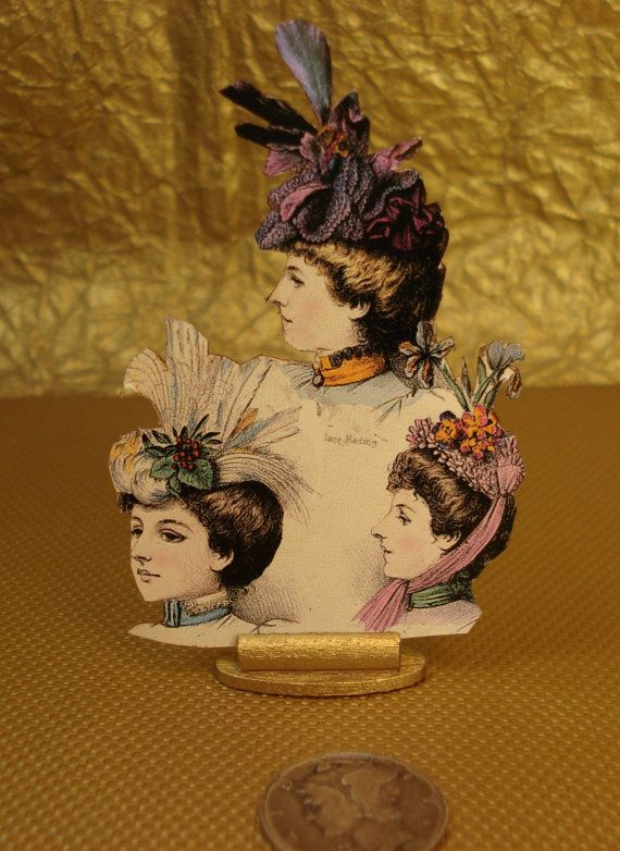 LADIES HAT PIN  COUNTER DISPLAY DOLLS HOUSE MINIATURES