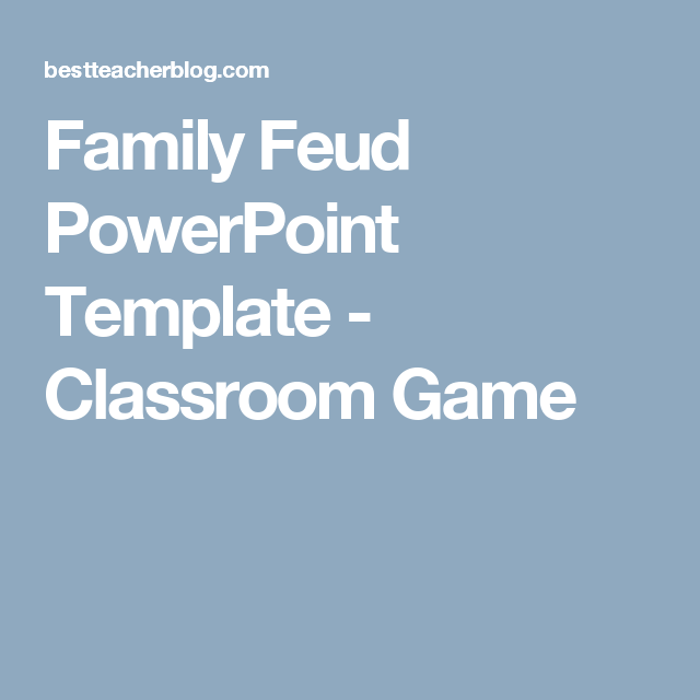 Family Feud Powerpoint Template Classroom Game Math 5th Grade