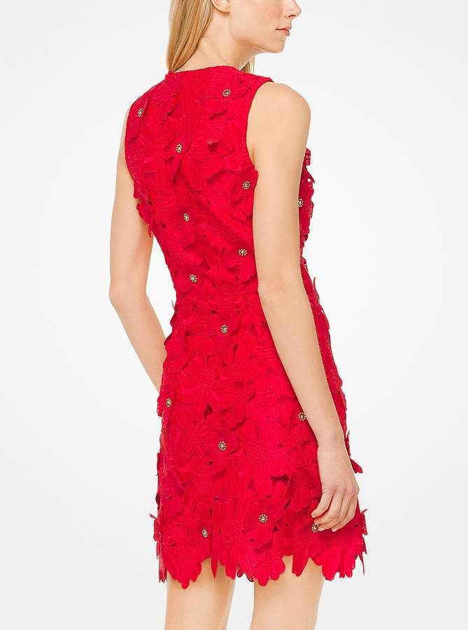 MICHAEL Michael Kors Floral Applique Lace Dress Kors