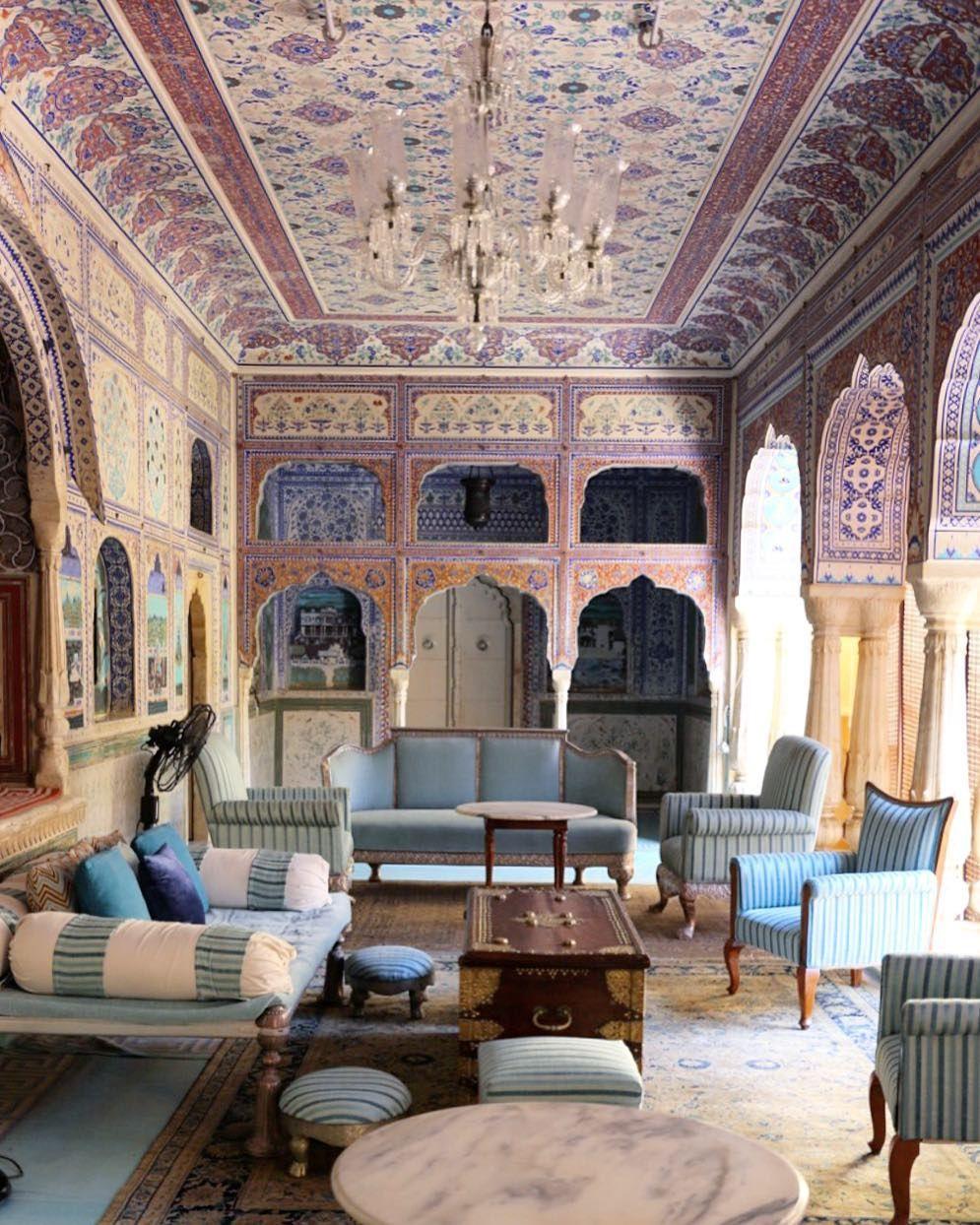 Indian restaurants interior design samode palace jaipur india  katie armour taylor  beautiful
