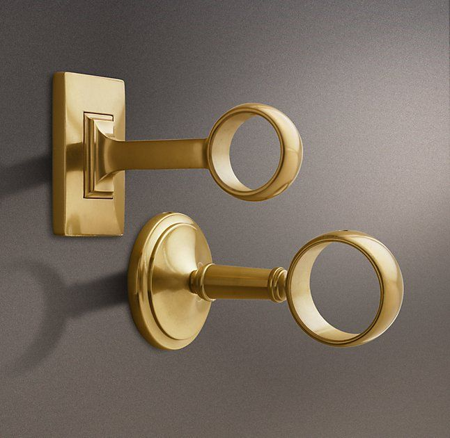 Estate End Brackets Set Of 2 Brass With Images Acrylic Rod
