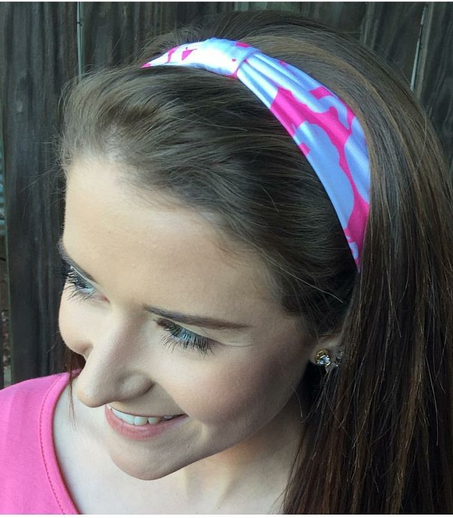 Lilly Pulitzer Headband Tusk in the Sun now available at www.monogramsmarkingsandmore.com. Pink Colony pattern too!