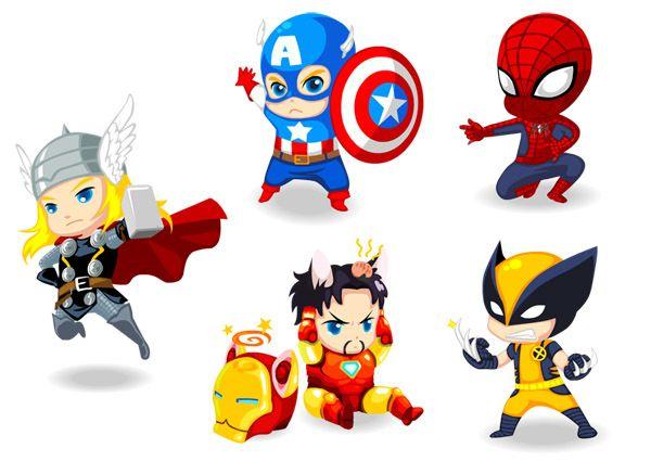 Image Result For Avengers Baby Vector Com Imagens Bebe