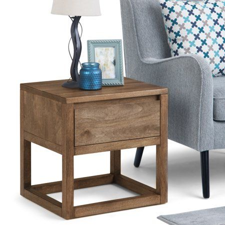 Brooklyn solid oak furniture side end lamp sofa table