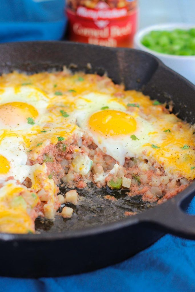 This Corned Beef Hash and Eggs is filled with tender ...