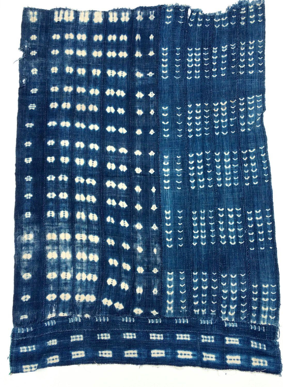 Shibori indigo, Burlap Weave, Authentic Vintage African Mud Cloth ...