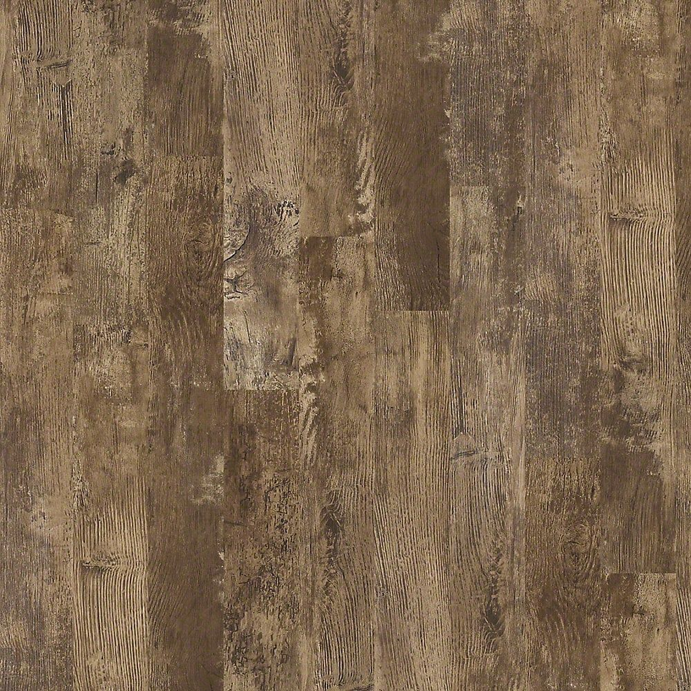 "Vinyl Plank Flooring - Discovery Collection - Teakwood / 6"" W x 48"" L / Floating"