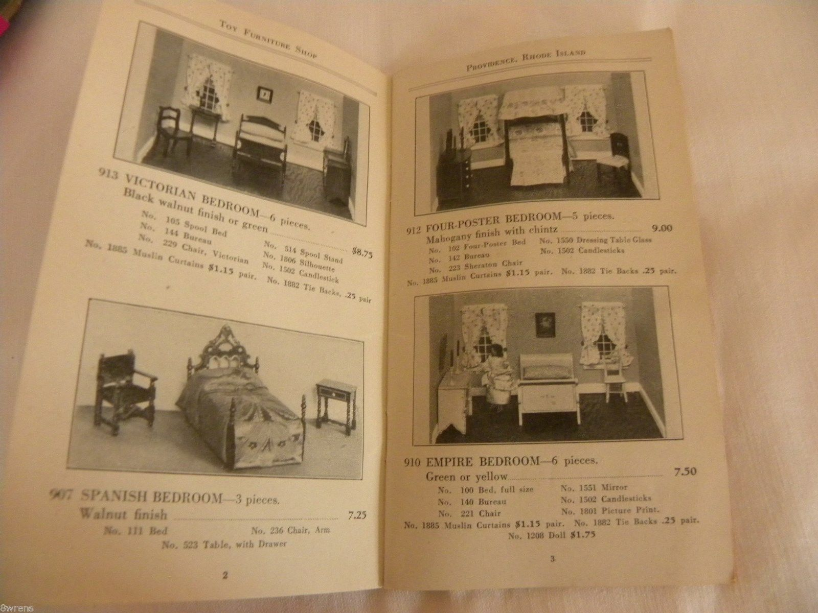 Vintage Authentic Early Tynietoy Dollhouse And Miniature Furniture