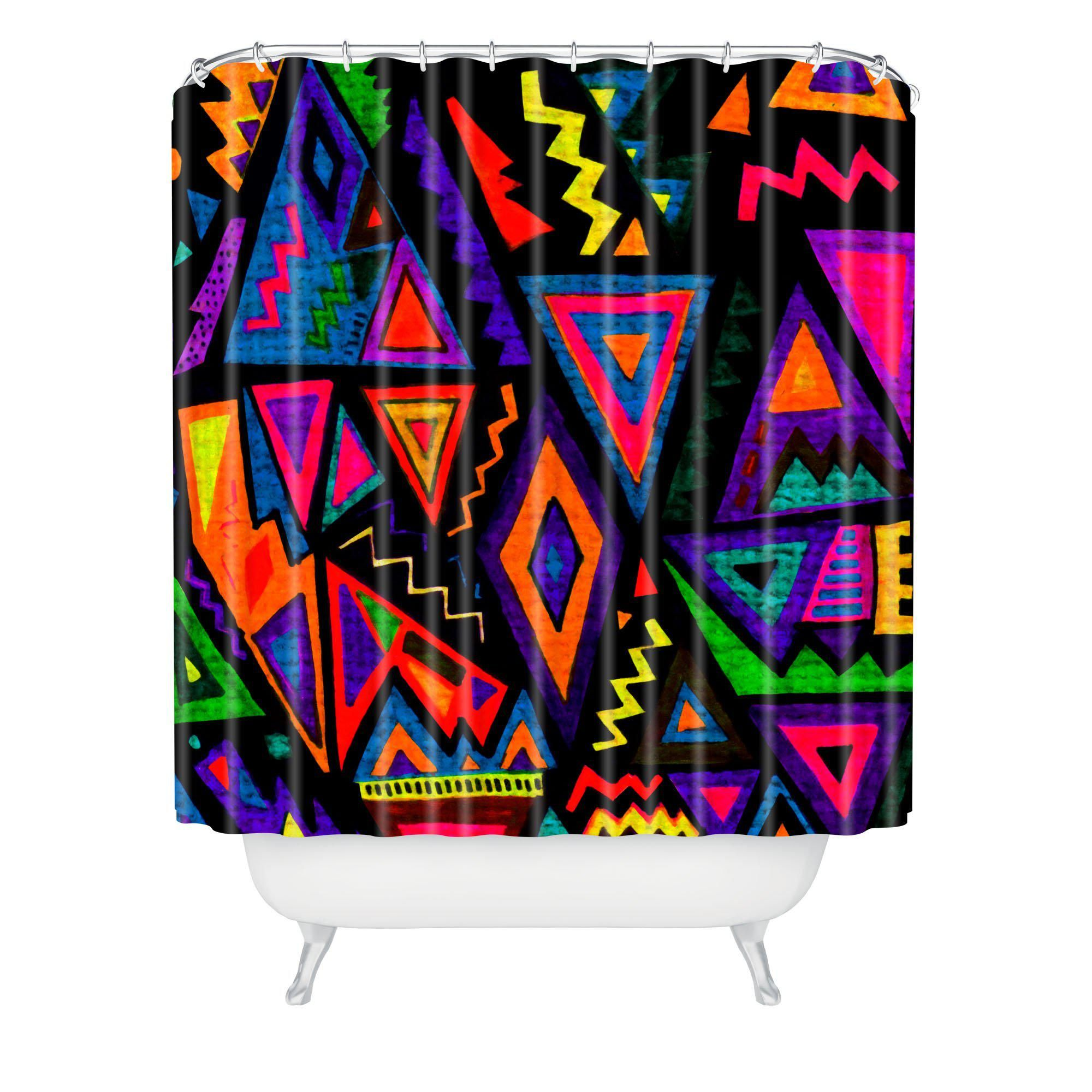 Kris Tate Folklore Shower Curtain From Deny Designs Showercurtain Triangle Bathroom