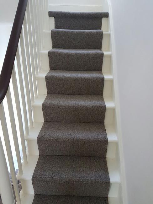 Grey Carpet Runner To Stairs Carpet Installations