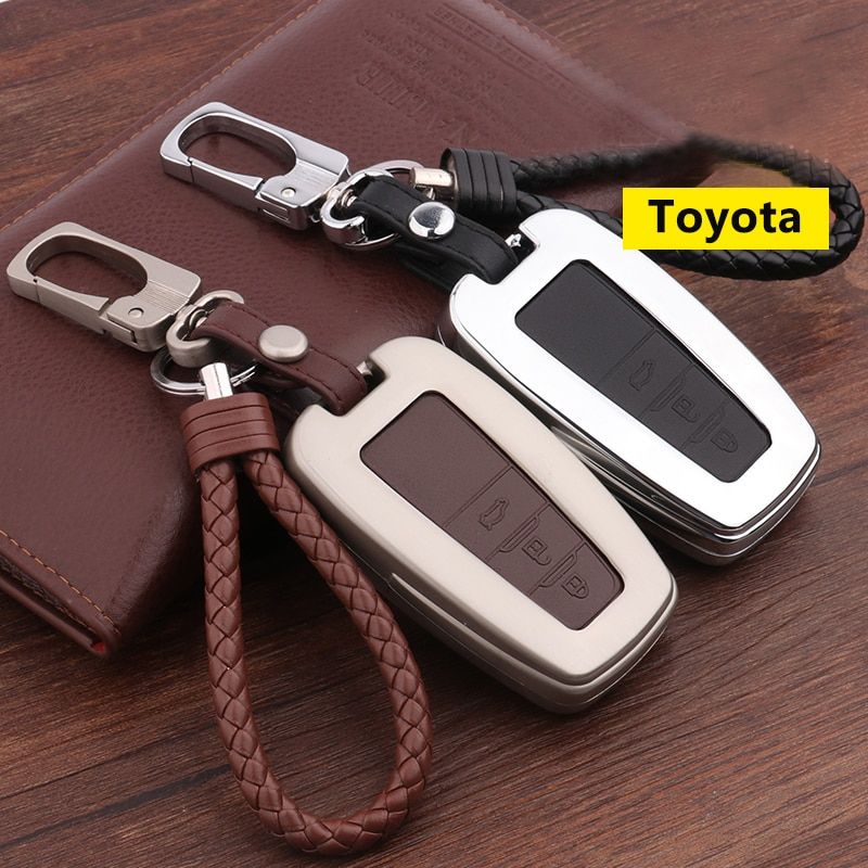 Zinc Alloy Leather Car Remote Key Cover Case For Toyota