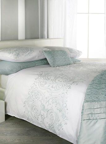 Duck Egg Jeff Banks Hanbury Bed Set Patterned Bedding Sets Linen