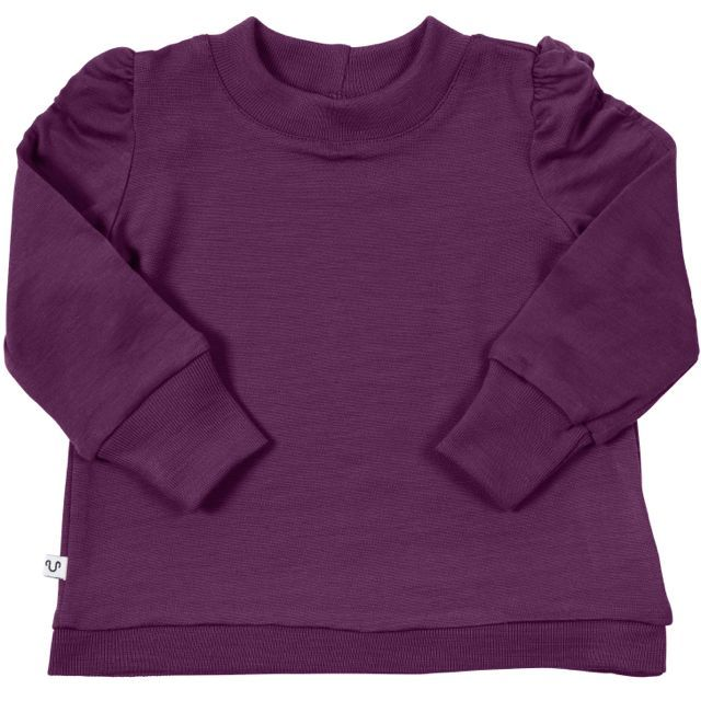 Baby purple Puff Sleeve jumper by Urban Merino made from 100 ...