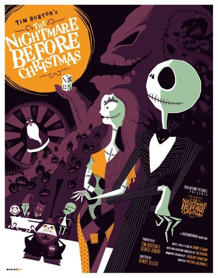 Modern Vintage Cult Movie Posters  The Nightmare Before Christmas