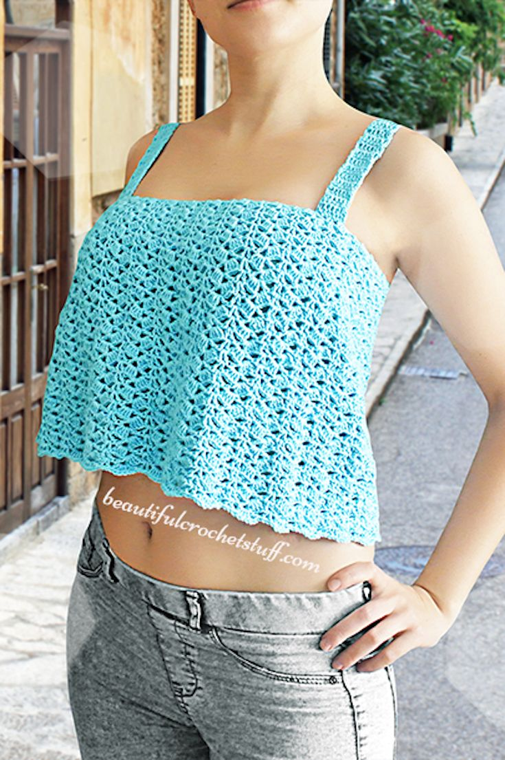 Crochet Crop Top Free Pattern | crocheting wiz | Pinterest | Ropa