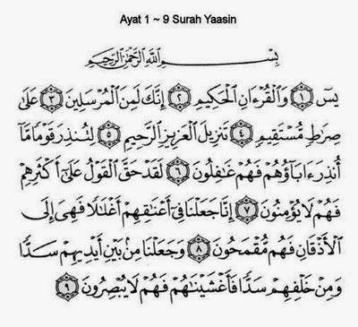 Ilme Donya Khasiat Surat Yasin Ayat 1 9 Places To Visit