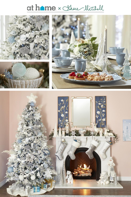 Grace Mitchell Christmas Blue Christmas Decor White Christmas Decor Silver Christmas Decorations