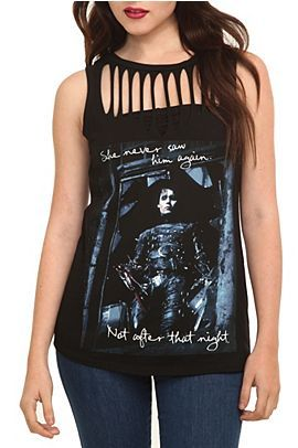 Edward Scissorhands Slash Sleeveless Girls T-Shirt @ Hot Topic, $26.50