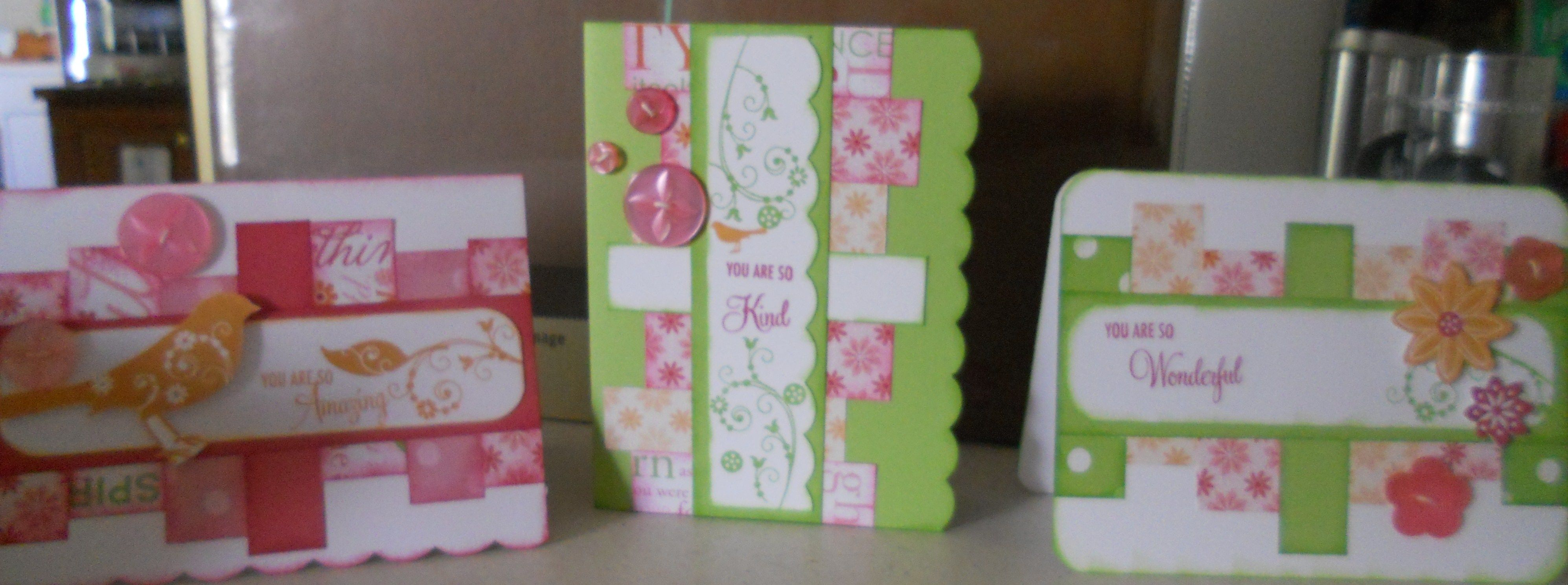 some spring cards done with Close to my Hearts Sophia paper