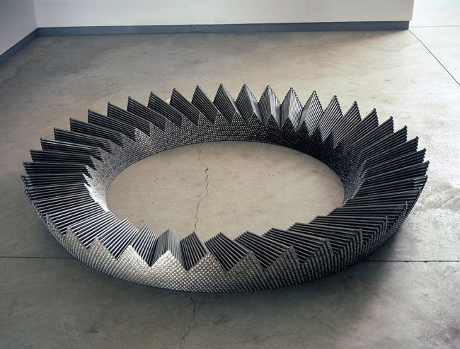 Ever since he kicked over a bucket of old rusty nails that had fused together into the shape of the bucket some 30 years ago, John Bisbee has been using nails as his sole inspiration and medium for his astonishing range of geometric sculptures and organic installations, as befitting his mantra of 'Only nails, always […]