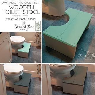 Wooden Toilet Stool Toilet Stool Step Stool Diy Diy Stool