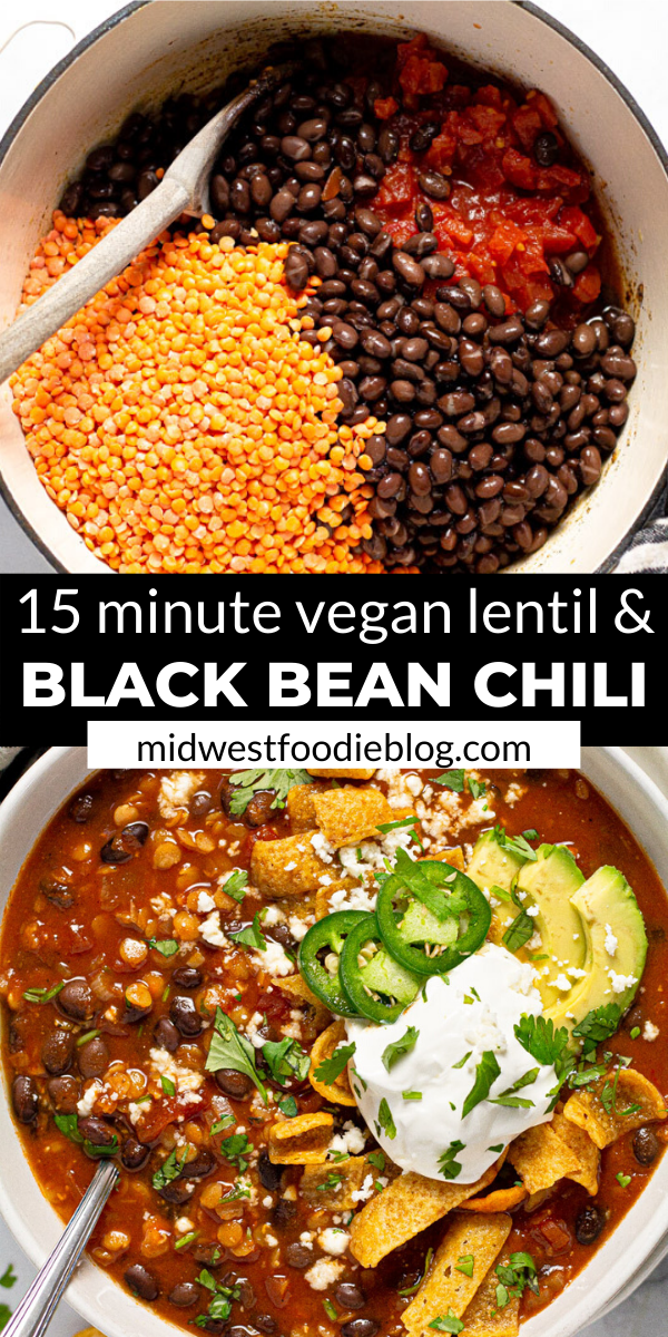 Vegan Black Bean & Lentil Chili
