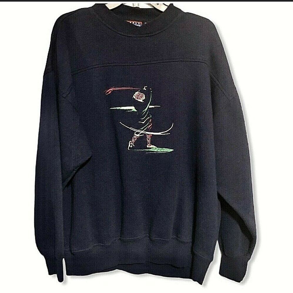 Vintage Crable Sportswear Embroidered Golf Sweatshirt Mens Med Usa 90s Blue Vintage Pullover Mens Sweatshirts Sportswear Sweatshirts [ 1000 x 997 Pixel ]