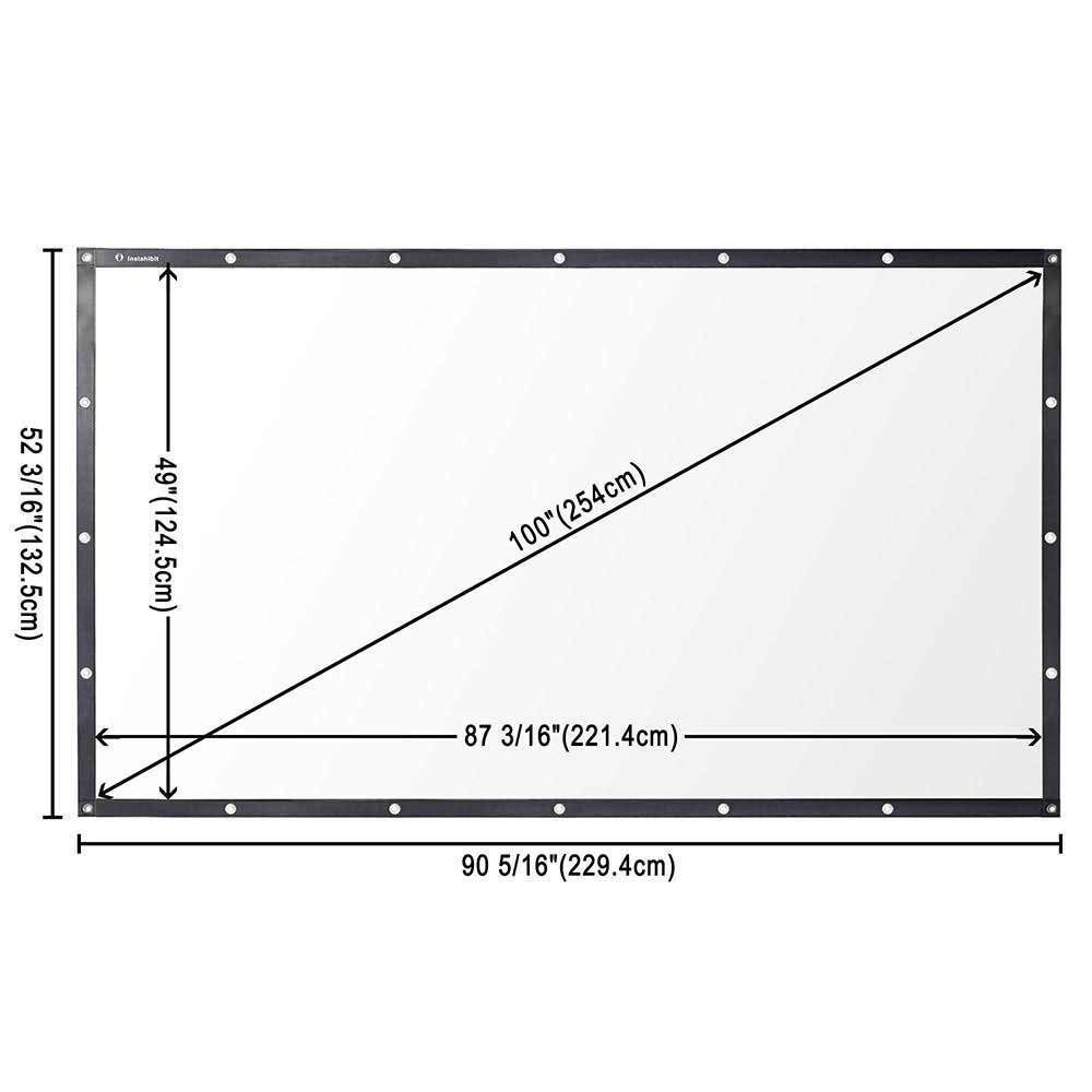 DIY Projector Screen Movie TV Home Theater PVC Leather 84 ...
