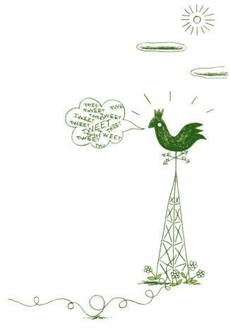 E-VILLE. Développé par Vincent Autin, le panneau Girouette s'alimente des contributions des internautes sur les réseaux sociaux. Le logiciel collecte régulièrement sur Twitter tous les messages géolocalisés portant le ou les tags relatifs au quartier ou à la ville puis les affiche sur la Girouette. Celle-ci s'oriente alors vers le lieu associé au message en précisant la distance à parcourir et le tempspour s'y rendre. Lire + : http://www.oeilbylaser.com/innovation/e-ville/