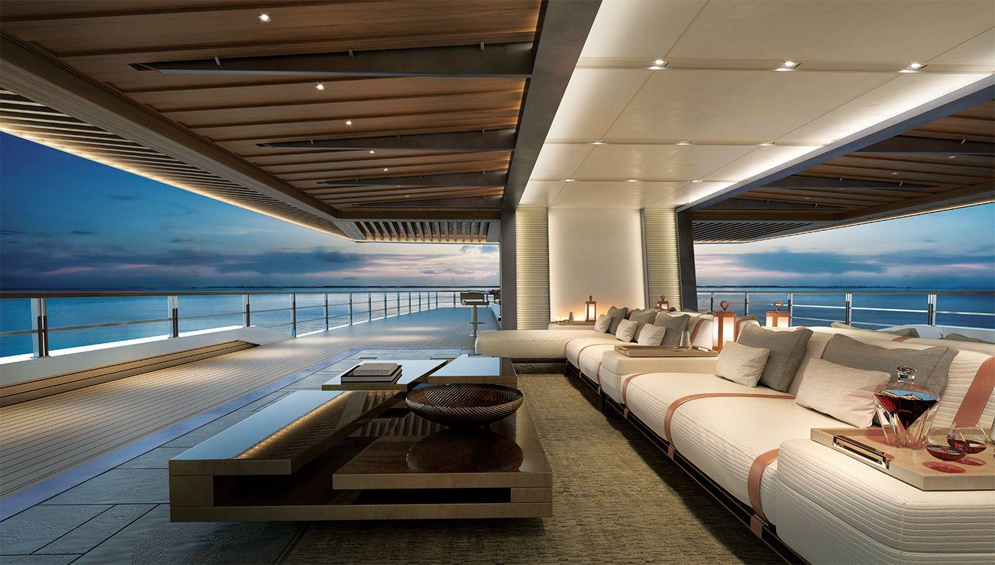 Innenarchitektur Yacht 262 superyacht concept lounge area boats
